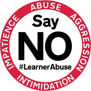 say no learner abuse intimidation aggression impatience