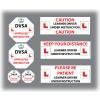 Set of 7 Learner Driver Sticker Car Driving Instructor DVSA Vinyl Signs Set 1