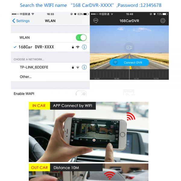 Dash Cam Mini WIFI Car DVR Camera Digital Registrar Video Recorder DashCam Auto Camcorder Wireless DVR APP Monitor Car Black Box 4