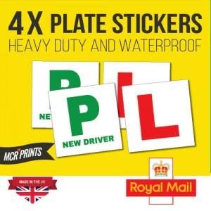 x4 Heavy duty L & P Sticker Plate, Legal Sticker Self Adhesive