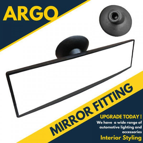 Rear View Suction Cup Driving Instructor Mirror Wide Angle Universal Fit 1