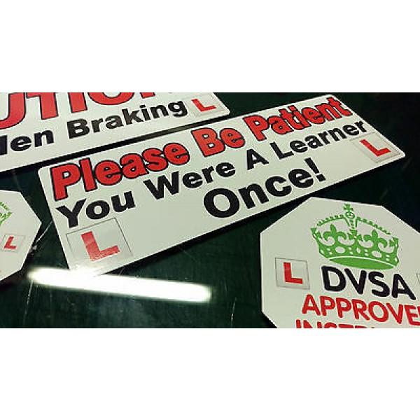 Driving instructor Learner Driver car Vinyl stickers decals Sign DVSA ADI DSA HQ 2