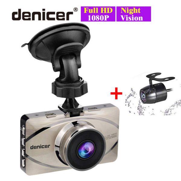 Car Recorder Top Autoregistrar Metal Dashcam Full HD 1080P Auto Recorder Night Vision IMX323 DVR 170 Registrator +Rear 2 Cameras