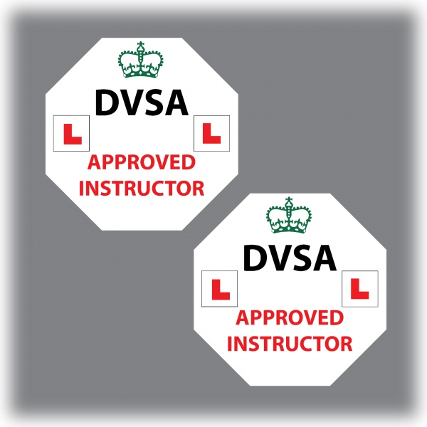 Set of 7 Learner Driver Sticker Car Driving Instructor DVSA Vinyl Signs Set 3