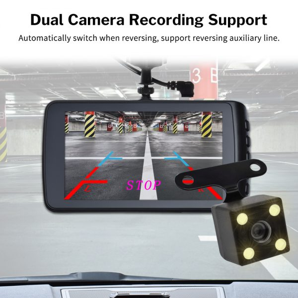 Deelife Car DVR Dash Camera Cam Full HD Video Recorder Registrator Auto Dual Cameras for In Cars Dashcam Vehicle Black DVRs Box 5