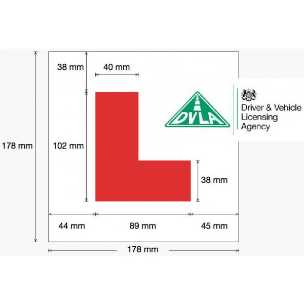 Driving School Car Roof Sign With Magnetic Side & 'L' Learner Vehicle NEW UK 2