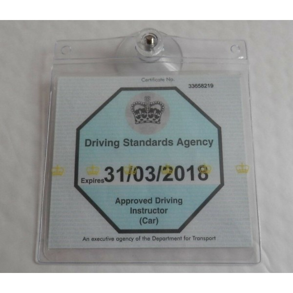 DRIVING SCHOOL ADI BADGE HOLDER WALLET, SUCTION CUP AND OPT QUICK RELEASE STRAP 4
