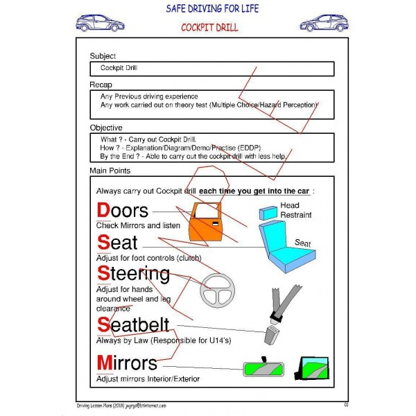 DRIVING LESSON PLANS - COVERS LATEST DRIVING TEST (By Email) 4