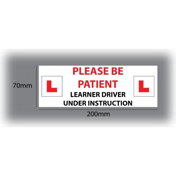 Set of 7 Learner Driver Sticker Car Driving Instructor DVSA Vinyl Signs Set 7