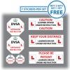 Set of 7 Learner Driver Sticker Car Driving Instructor DVSA Vinyl Signs Set