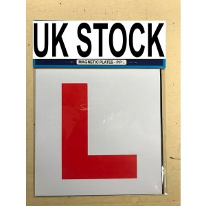 2 x L Plate Learning Plates Magnetic Car Plates Exterior New Secure & Safe UK