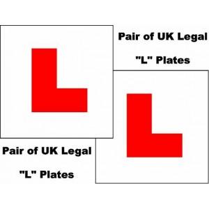 2 X UK Legal L Plates Self Adhesive Stick On Vinyl Weatherproof