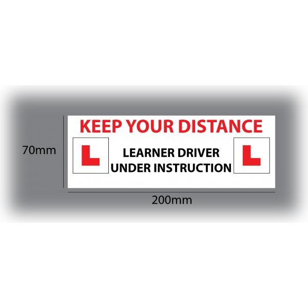 Set of 7 Learner Driver Sticker Car Driving Instructor DVSA Vinyl Signs Set 8