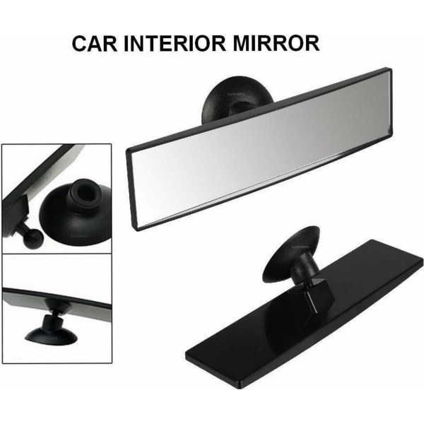 REAR VIEW MIRROR SUCTION CUP DRIVING INSTRUCTOR WIDE ANGLE UNIVERSAL FIT
