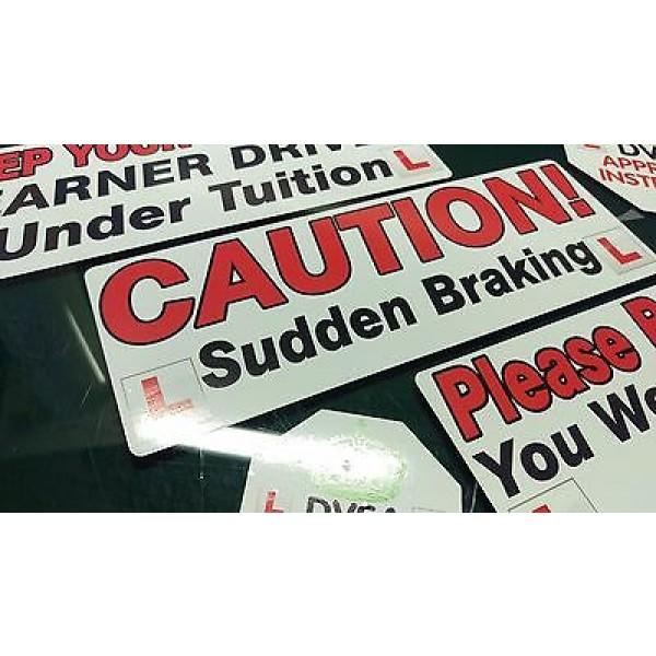 Driving instructor Learner Driver car Vinyl stickers decals Sign DVSA ADI DSA HQ 1