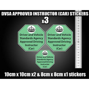 Approved Driving instructor Vinyl stickers decals Signs DVSA ADI DSA Learner Car