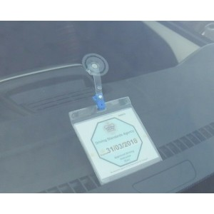 DRIVING SCHOOL ADI BADGE HOLDER WALLET, SUCTION CUP AND OPT QUICK RELEASE STRAP