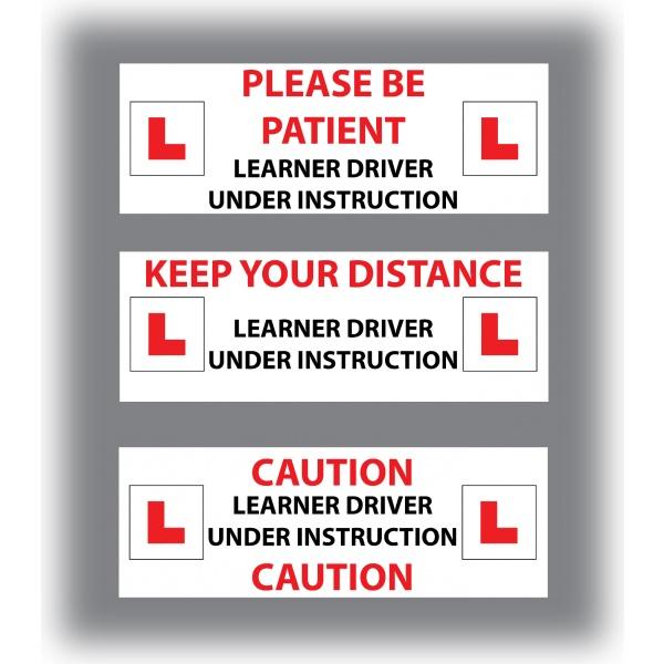 Set of 7 Learner Driver Sticker Car Driving Instructor DVSA Vinyl Signs Set 6