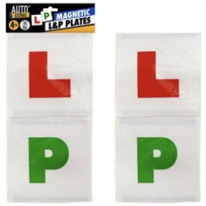4pk Plates L&P Magnetic| New Learner Driver L-Plate Secure Just Pass P-Plate Set