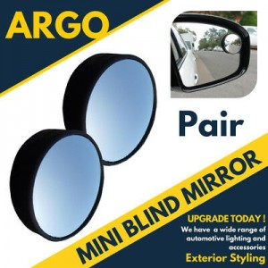 "2x Blind Spot Mirror Round 2"" Parking Reversing Driving Self-adhesive Adjust"