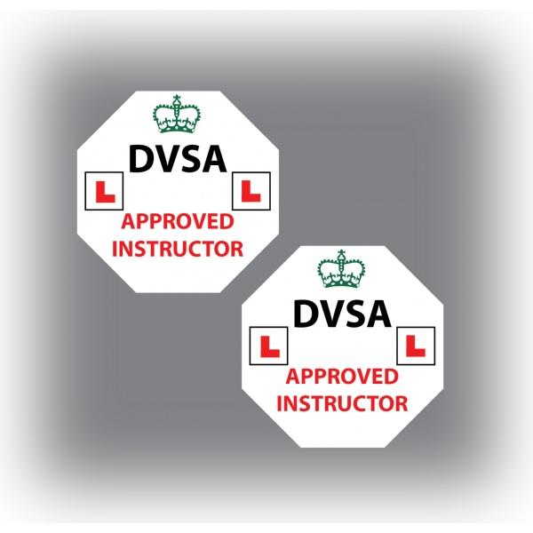 Set of 7 Learner Driver Sticker Car Driving Instructor DVSA Vinyl Signs Set 5