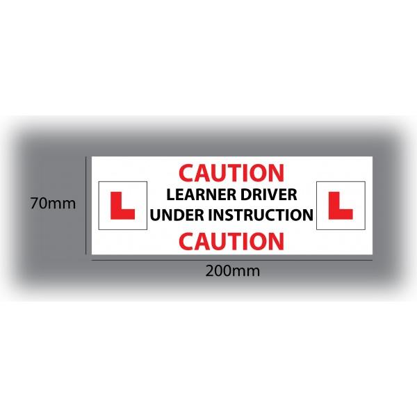 Set of 7 Learner Driver Sticker Car Driving Instructor DVSA Vinyl Signs Set 9