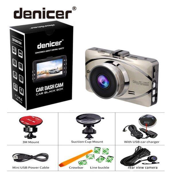 Car Recorder Top Autoregistrar Metal Dashcam Full HD 1080P Auto Recorder Night Vision IMX323 DVR 170 Registrator +Rear 2 Cameras 5