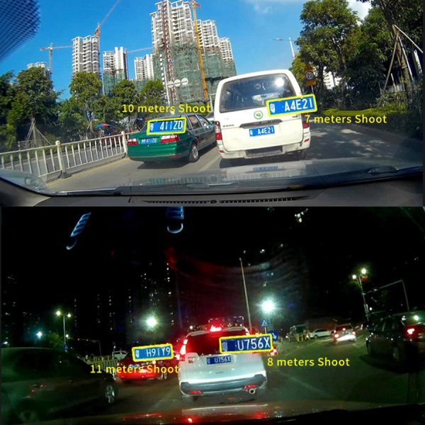 Car Recorder Top Autoregistrar Metal Dashcam Full HD 1080P Auto Recorder Night Vision IMX323 DVR 170 Registrator +Rear 2 Cameras 1