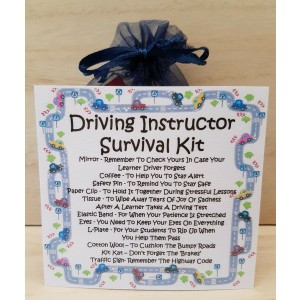 Driving Instructor's Survival Kit - A Unique Fun Novelty Gift / Secret Santa