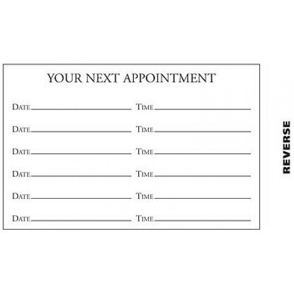 100 x Appointment Cards Driving School Instructor Lessons Storage Box & Freepost 1