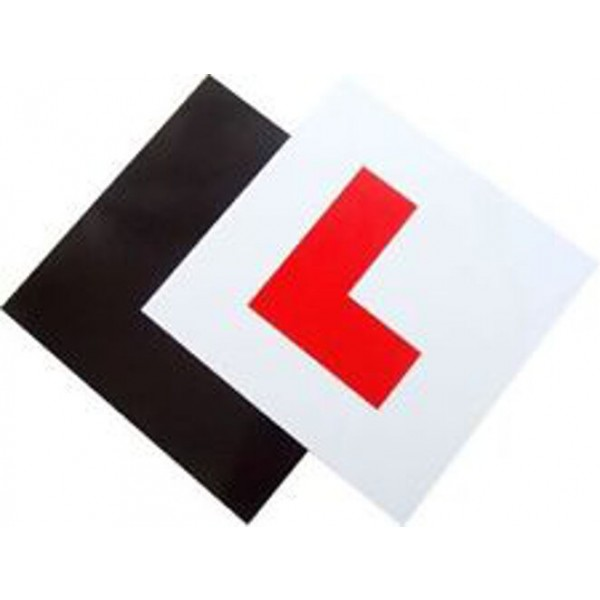2 x FULLY Magnetic Exterior Car New Learner L Plates - Secure & Safe 2