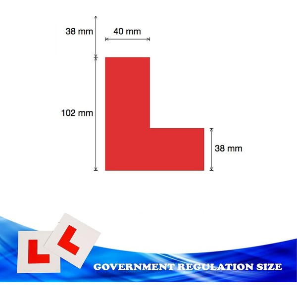 Magnetic L Plate Extra Thick Strong Learner Plate, -Gn Enterprise 1