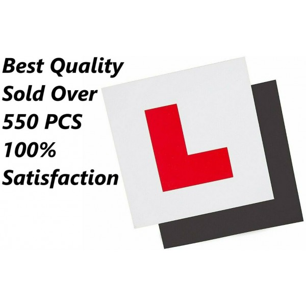L Plate For Car Learner Fully Magnetic Learning to Drive Exterior Secure 1 Pcs