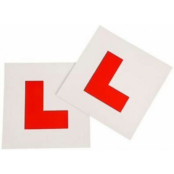 2 x FULLY MAGNETIC L PLATES SECURE Quick Easy To Fix Learner Sign 3