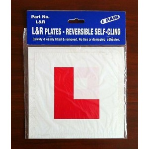 L Plate Learner Plates Self Cling Pair