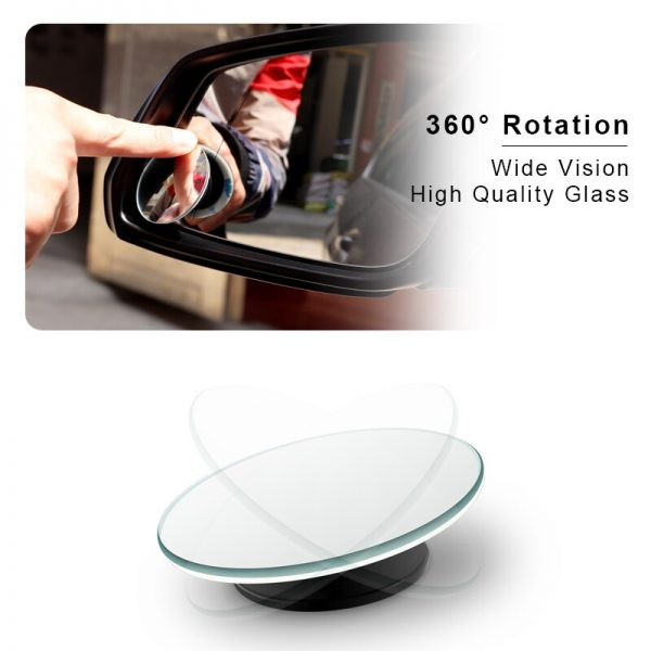Car 360 Wide Angle Round Convex Mirror Car Vehicle Side Blindspot Blind Spot Mirror Wide Rear View Mirror Small Round Mirror 2