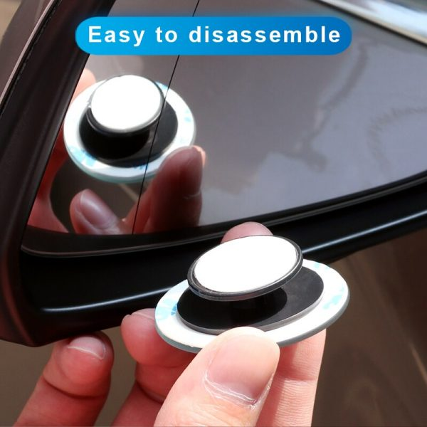 Car 360 Wide Angle Round Convex Mirror Car Vehicle Side Blindspot Blind Spot Mirror Wide Rear View Mirror Small Round Mirror 5